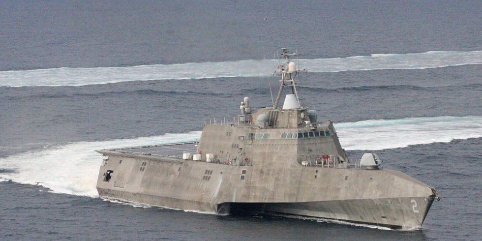 Littoral combat ship auf See