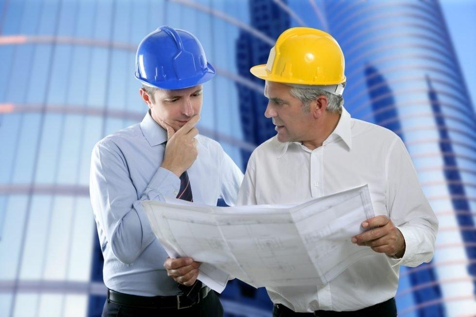 Zwei Bauingenieure