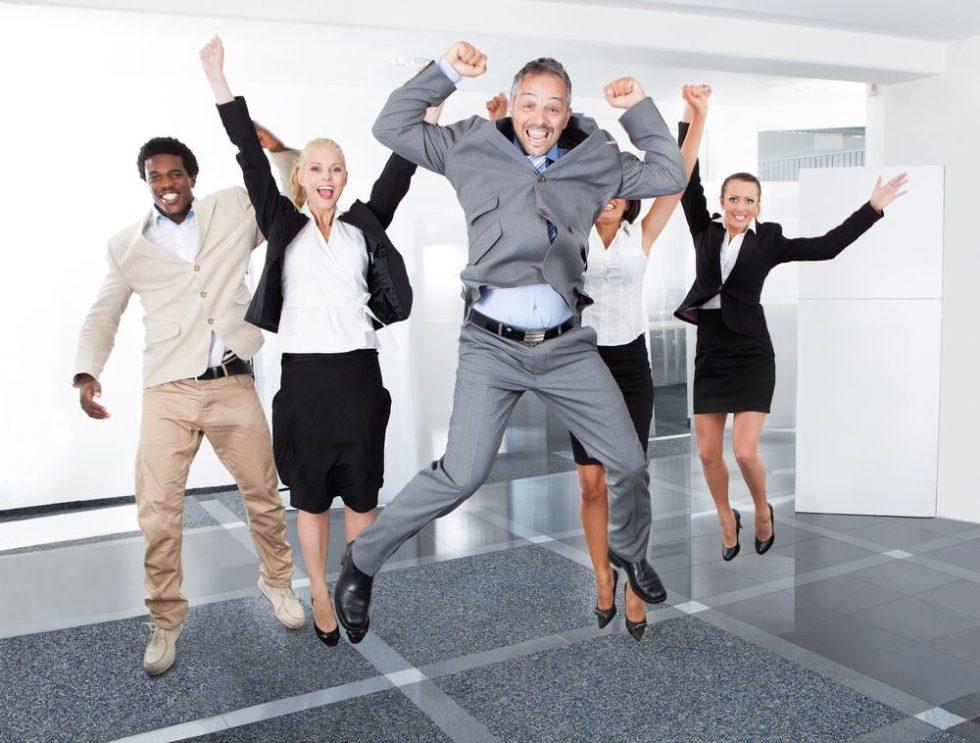 Positive Stimmung erleichtert den Arbeitsalltag.