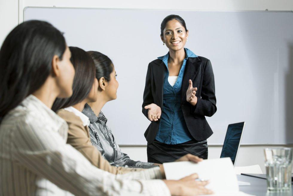 Selbstpräsentation kann man trainieren.