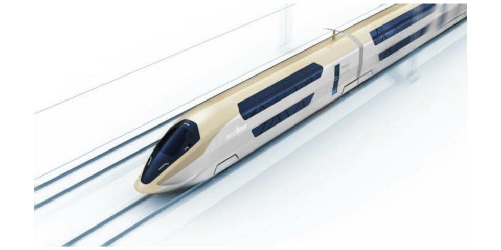 Superzug AeroLiner3000 bringt Flugzeugtechnik auf die Schiene