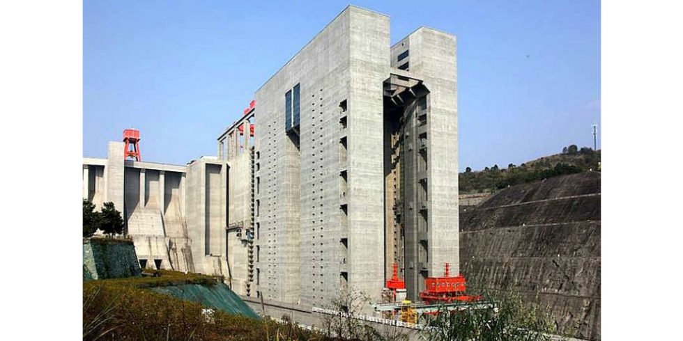 Weltgrößtes Schiffshebewerk geht am Jangtse in China in Betrieb