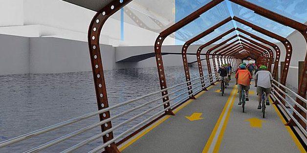 Chicago will schwimmenden, überdachten Radweg bauen