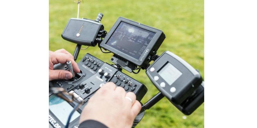 Die Steuerung der Intel-Drohne auf der Cebit 2017