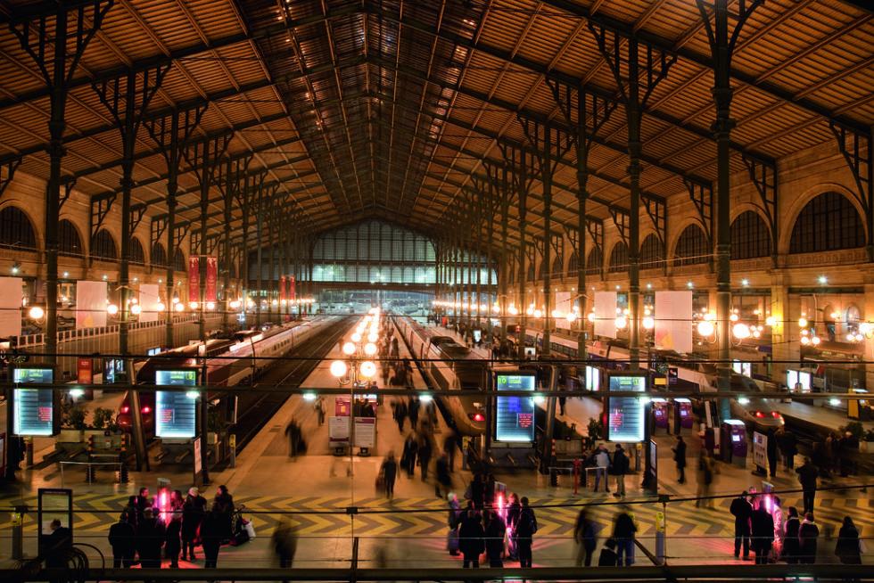 Ein Blick in den Kopfbahnhof Gare du Nord