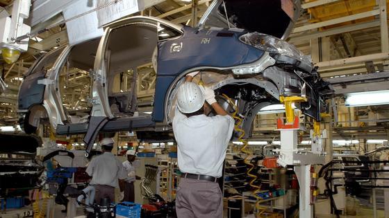 Autofertigung in Indien: Starke Zuwachsraten in der indischen Stahlindustrie.