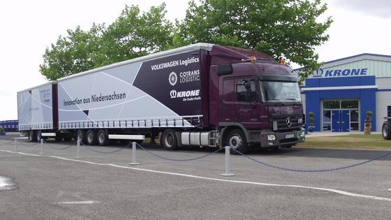 Erste Erfahrungen sprechen für größere Nutzfahrzeuge.Quelle: Bernard Krone Holding GmbH & Co. KG