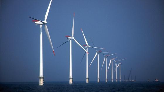 Offshore-Windenergieanlagen.