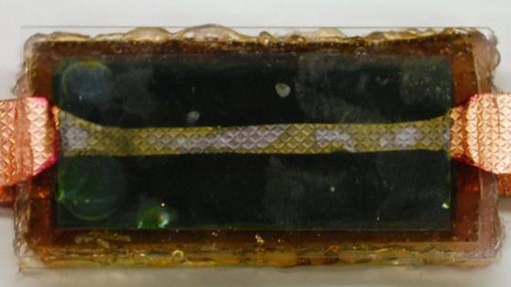 Batterie aus Spinat.