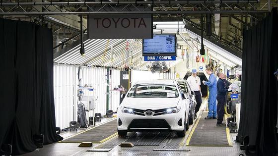 Produktion des Toyota Auris.