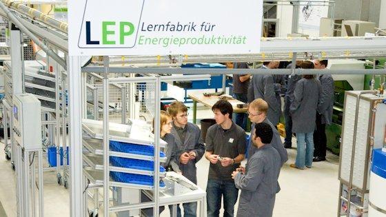 Lernfabrik für Energieproduktivität.