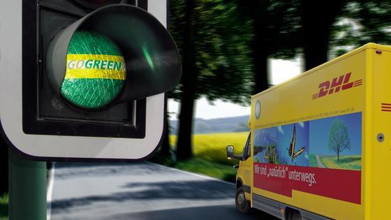 DHL GoGreen: Nur grüne Logistik kann die Zukunft der Transportunternehmen sichern.