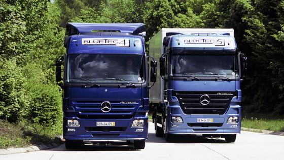 Auch der Actros von Daimler wird als Elektroversion getestet.