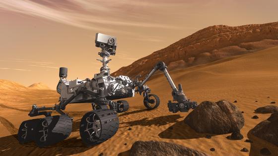 Erfolgreiches Landemanöver: Curiosity auf dem Mars.