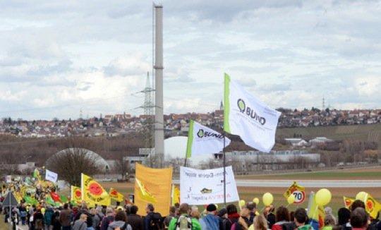 Auch in Neckarwestheimwird am 9. März 2013vor dem Atomkrafwerkprotestiert.