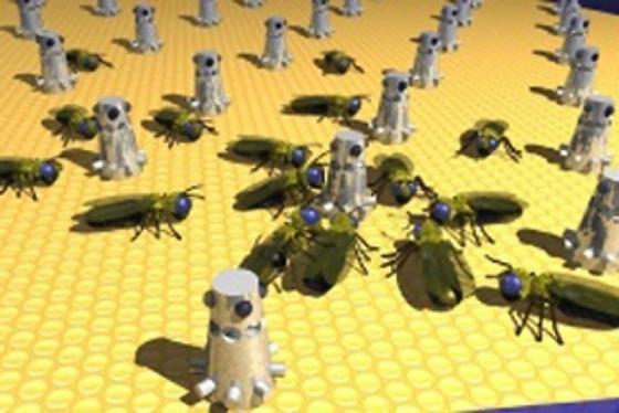 Szene aus einer gemischten Roboter-Tier-Gesellschaft.