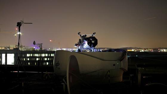Optische Bodenstation im Einsatz.
