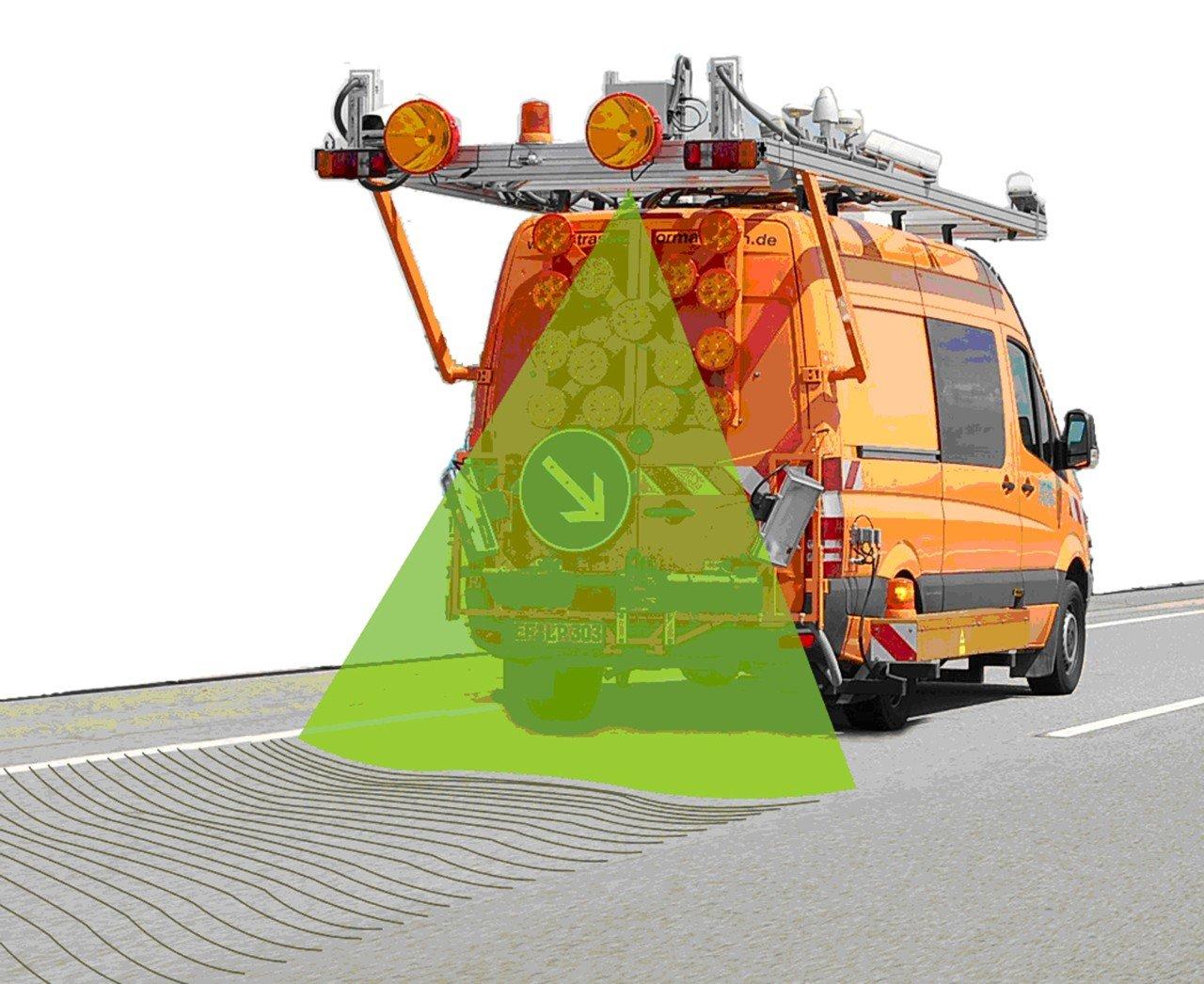 Fraunhofer-Forscher und Ingenieure des Erfurter Unternehmens für Straßengutachten Lehmann + Partner haben den Laserscanner gemeinsam entwickelt, der Straßenoberflächen sogar bei Tempo 100 zuverlässig erfasst.