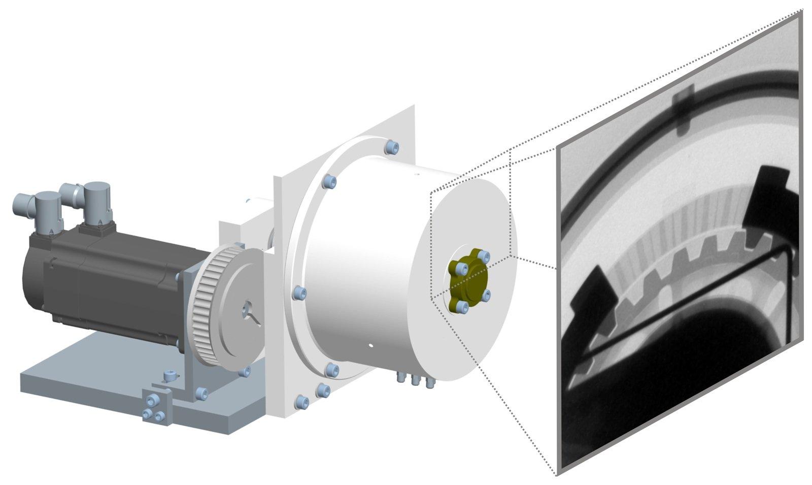 Das Metallgehäuse der Motoradkupplung wurde am PSI mit Neutronen durchleuchtet, um die Verteilung des Schmieröls sichtbar zu machen.