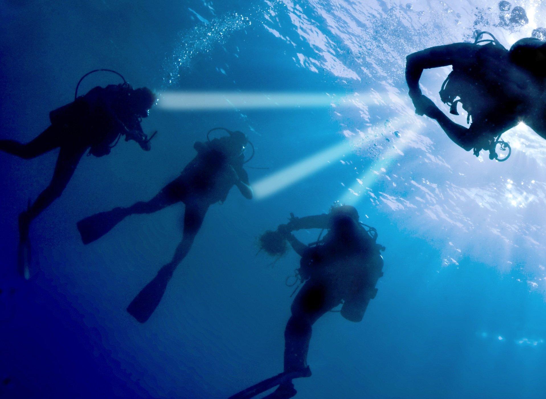 Selbst unter Wasser können sich die Forscher des Berliner Heinrich-Hertz-Instituts vorstellen, dass man per Licht vernetzt ist.