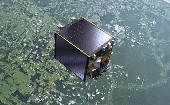 Dank des erstmals im Weltraum eingesetzten Halbleiters Galliumnitrid soll der Umweltsatellit Proba-V der ESA deutlich besser mit der Erde kommunizieren können. Er überwacht beispielsweise illegale Abholzungen im Regenwald.