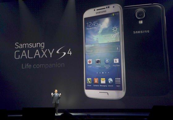 Samsungs Mobilfunkchef JK Shin stellte das neue Galaxy S4 Mitte März in der Radio City Music Hall in New York vor.