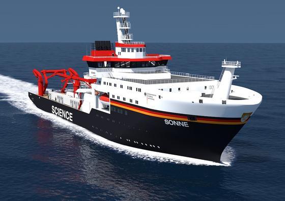 Das Forschungsschiff Sonne wurde jetzt in der Meyer-Werft in Papenburg auf Kiel gelegt. Es soll 2015 in See stechen.