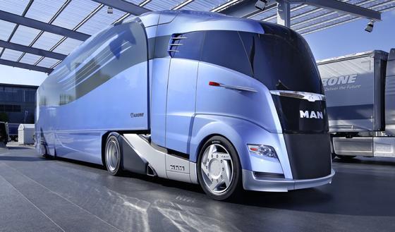Lkw-Studie Concept S: MAN präsentiert den aerodynamisch optimierten Sattelzug der Zukunft.