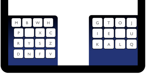 Für die virtuelle Tastatur von Smartphones und Tablets haben Max-Planck-Forscher ein neues daumengerechtes Layout entwickelt.