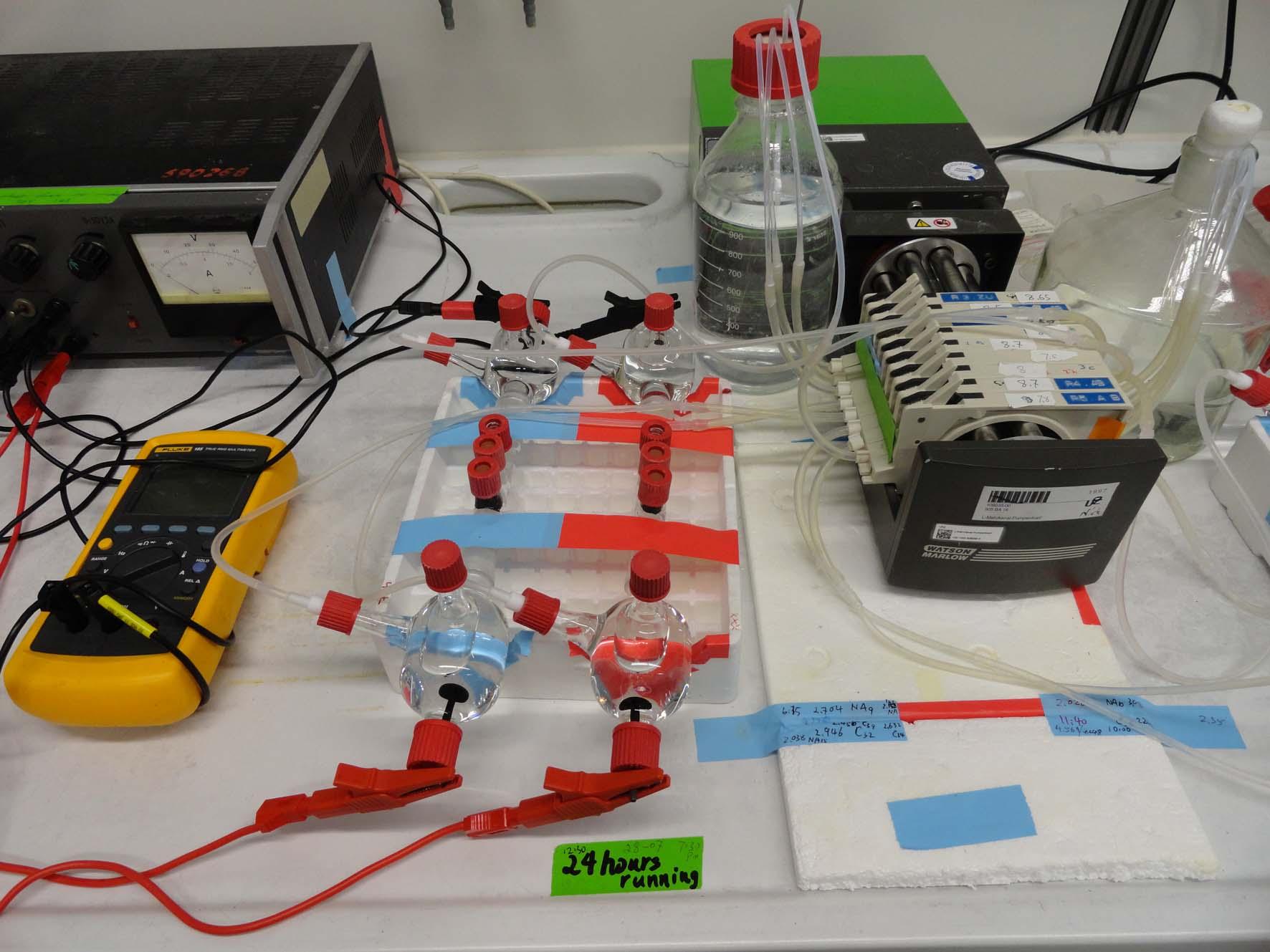 Versuchsaufbau Elektroosmose