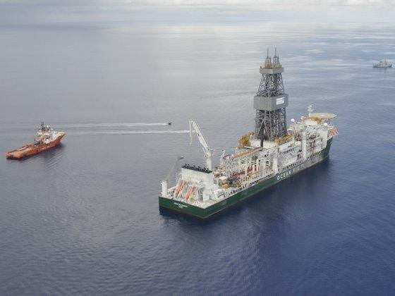 Suche nach Erdgaslagerstätten vor der Küste Ostafrikas: Das Bohrschiff Ocean Rig Poseidon der Ocean Rig UDW exploriert seit 2012 für den Staatskonzern Statoil vor Tansania. Statoil meldete seither mehrere erfolgsversprechende Bohrungen.