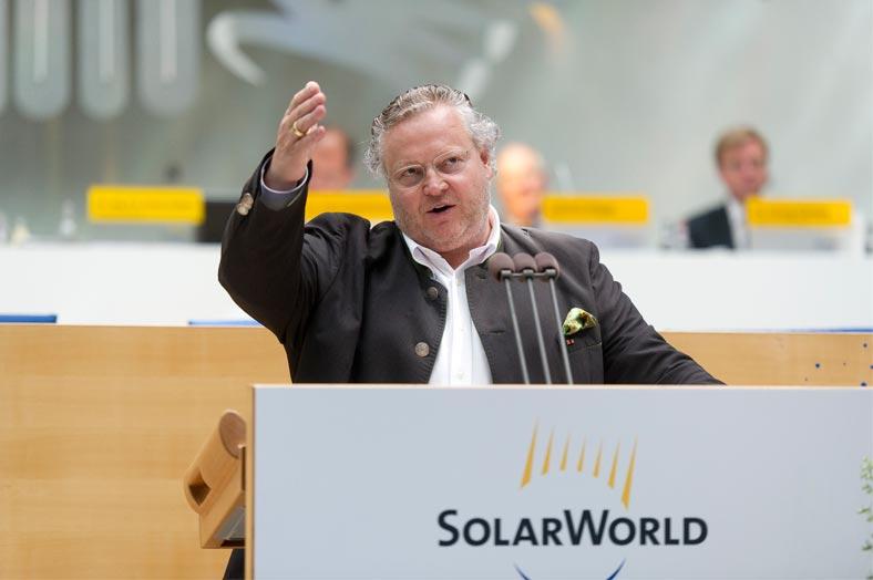 Will die Solarsparte von Bosch übernehmen: SolarWorld-Chef Frank Asbeck.