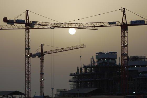 Wolffkrane werden auch bei den Hochhausbauten in Dubai eingesetzt.