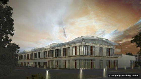 Modellansicht des Energy Efficiency Center in Würzburg.