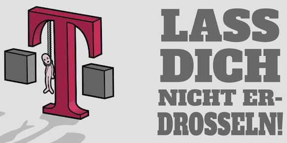"Das Logo der Telekom-Kritiker: ""Lass dich nicht erdrosseln"""