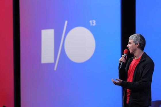 Google-Chef Larry Page auf der Google-Entwicklermesse I/O.