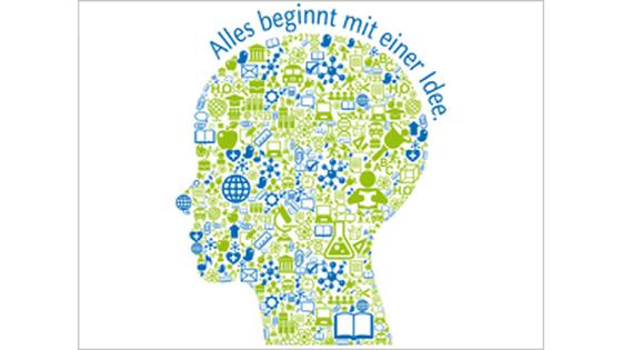 Logo des Ideenwettbewerbs der Uni Düsseldorf