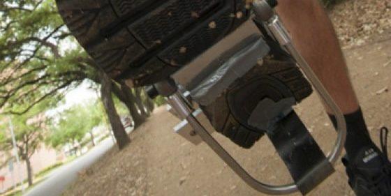 Ein Blick unter den PediPower-Schuh.