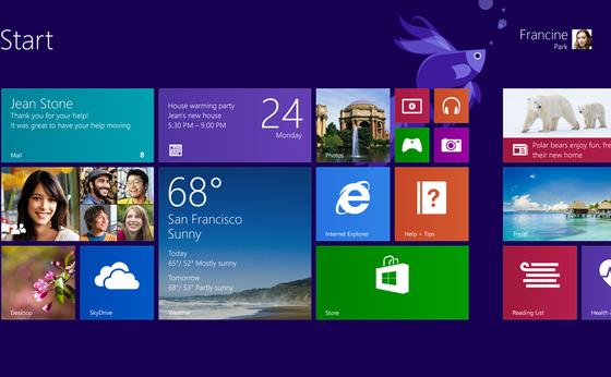 Microsoft hat sein Betriebssystem 8 schon überarbeitet. Wichtigste Änderungen: Der Stadtknopf ist wieder da, die Kacheln können auf Knopfdruck verschwinden.