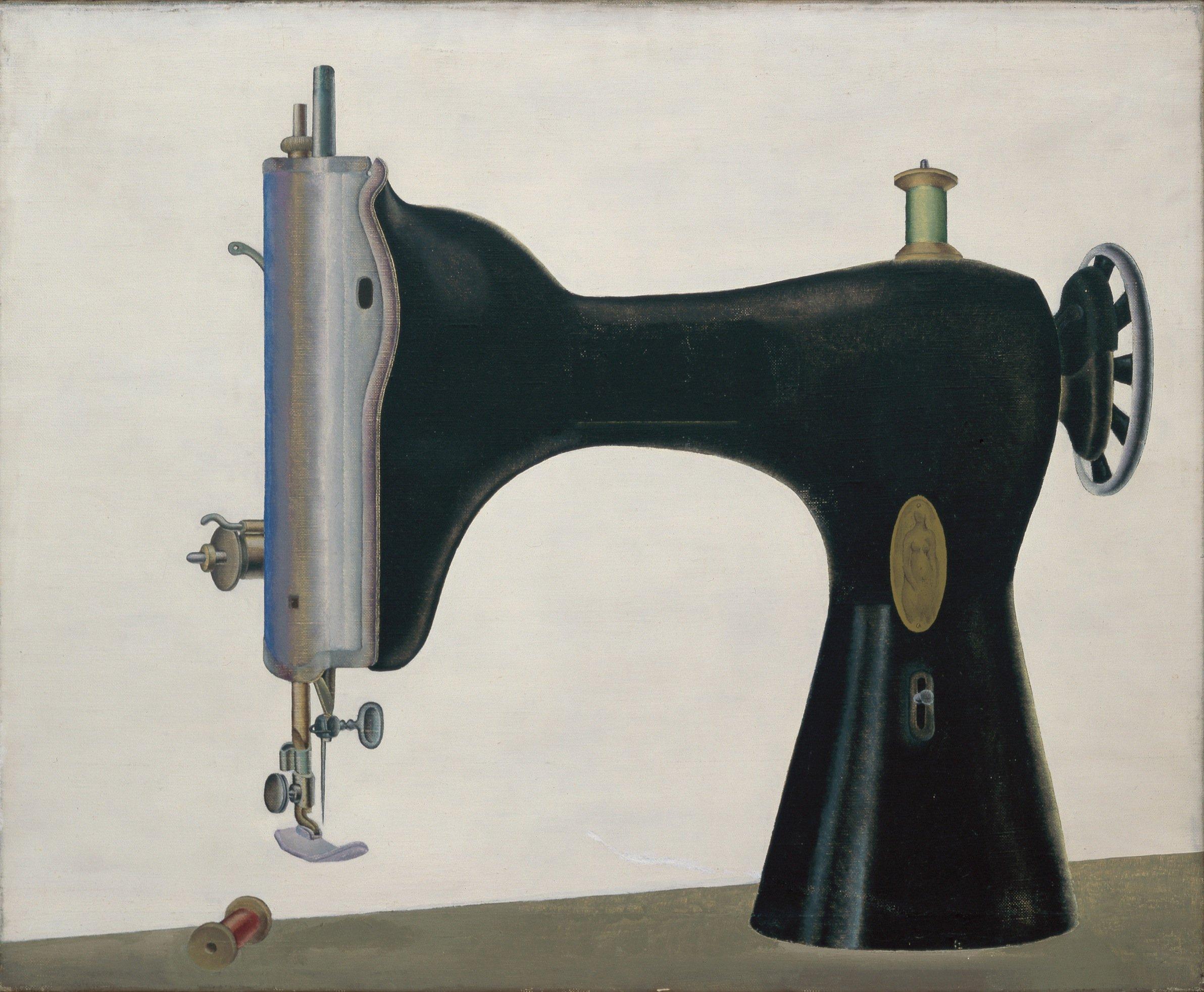 """""""Die gekränkte Braut"""" – eine Nähmaschine – stammt aus dem Jahr 1957 und war Klaphecks zweites Bild einer Maschine."""
