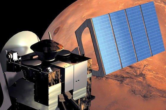 Eine künstlerische Darstellung der Raumsonde Mars Express.