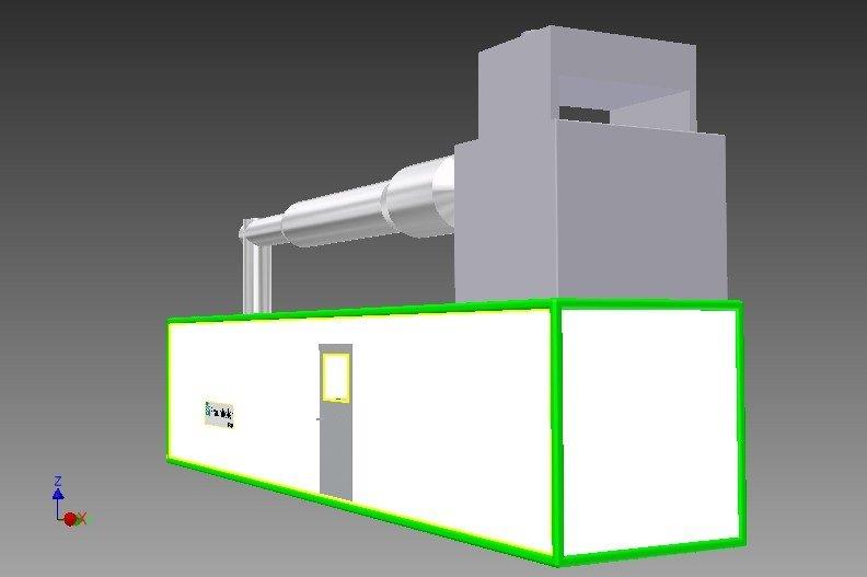 Skizze des Fraunhofer IFAM Windkanals, in dem zukünftig Vereisungstests unter realitätsnahen Bedingungen durchgeführt werden können.