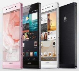 Das Ascend P6 in Schwarz, Weiß und Pink.