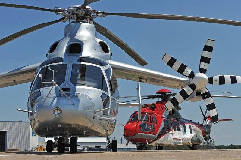 Der X3 bei einer Veranstaltung für Kunden aus der Öl- und Erdgasbranche in den USA; im Hintergrund ein Eurocopter EC225. Bis der X3 i Serie geht, werden noch ein paar Jahre vergehen.