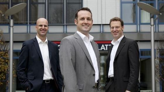 Das Management-Team von evocatal (v.l.): Christian Leggewie (CSO), Thorsten Eggert (CEO) und Michael Puls (CMO)