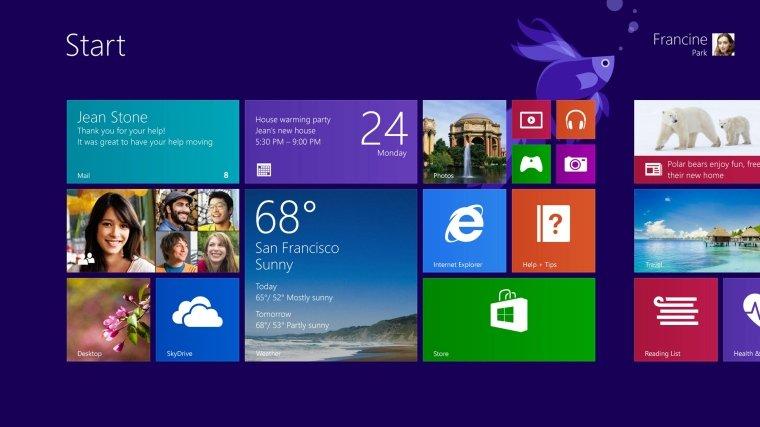 So soll er aussehen, der Start-Bildschirm des neuen Windows 8.1