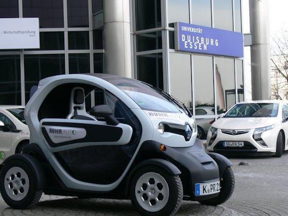 Praxiserfahrung: Im Projekt RuhrAuto erprobt die Universität Duisburg-Essen Carsharing mit einer reinen Elektroautoflotte.