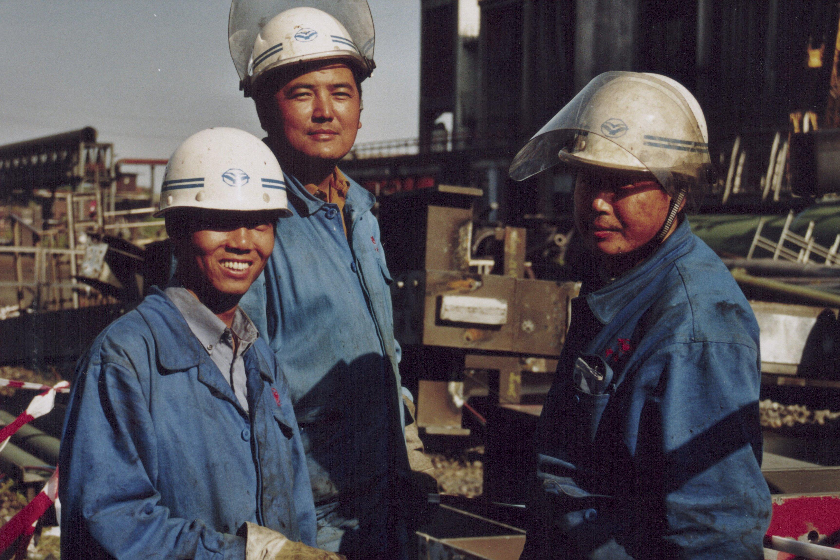 Chinesische Arbeiter in der früheren Dortmunder Kokerei