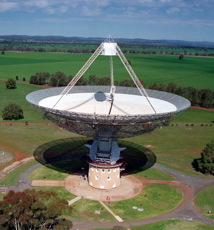 Am 64-Meter-Radioteleskop im australischen Parkes wurden die Radioblitze beobachte.