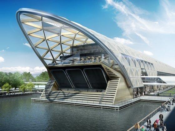 Canary Wharf Station: Die neue Linie quer durch London bietet an einigen neu zu bauenden Stationen Gelegenheit, mit spektakulären Neubauten ganze Stadtviertel mit einem neuen Zentrum zu bereichern.